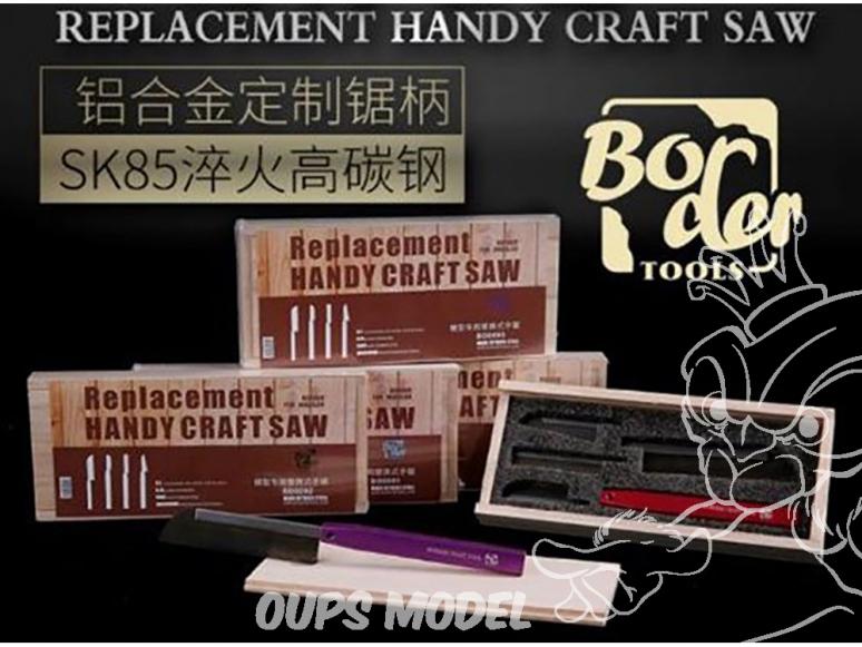 Border model outillage BD0091 Set scie à main avec 4 lames