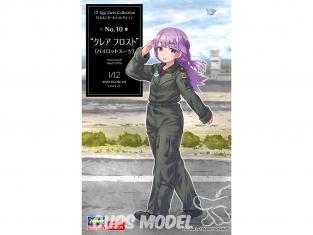 Hasegawa maquette figurine 52263 Collection Egg Girls No.10 «Claire Frost» (combinaison de pilote) 1/12