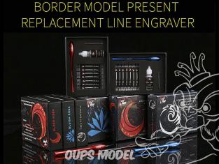 Border model outillage BD0052 Coffret porte pointes et assortiment de 7 pointes à graver Tides of Darkness