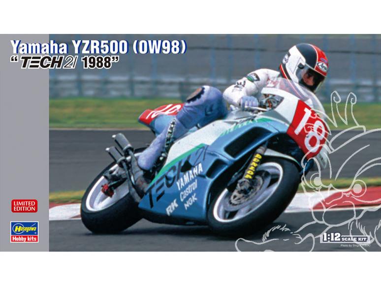 Hasegawa maquette moto 21727 Yamaha YZR500 (0W98) TECH21 1988 1/12