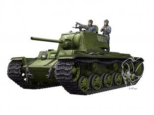 TRUMPETER maquette militaire 09597 KV-1 1942 Char à tourelle simplifiée avec équipage de char 1/35