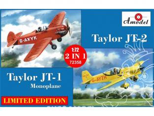 Amodel maquettes avion 72358 Taylor JT-1 et JT-2 monoplace 1/72