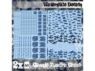 Green Stuff 507492 Decalcomanies a l'eau Camouflage Tundra Classique