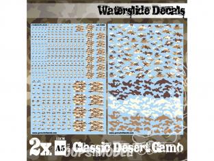 Green Stuff 507485 Decalcomanies a l'eau Camouflage Désert Classique