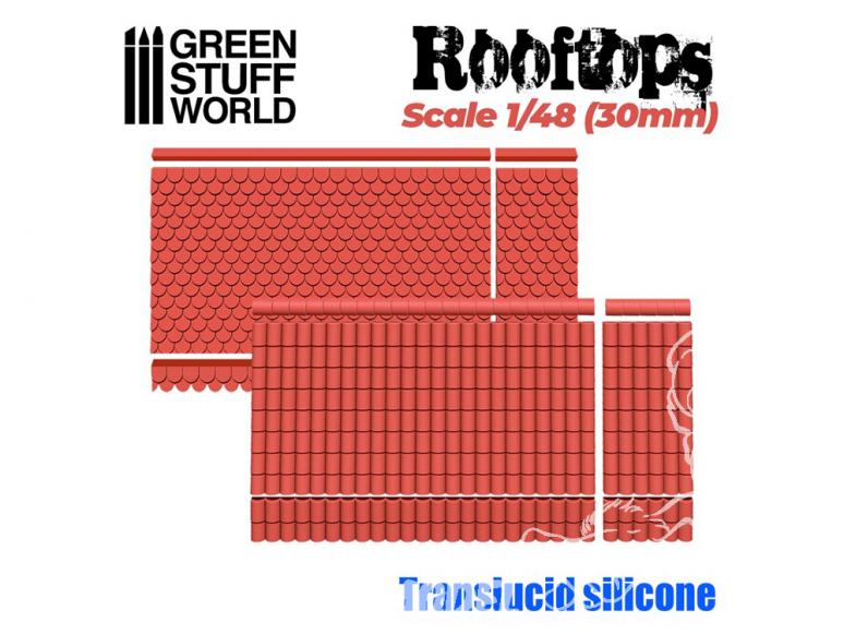 Green Stuff 505573 MOULES en Silicone - Toits 1/48 (30mm)