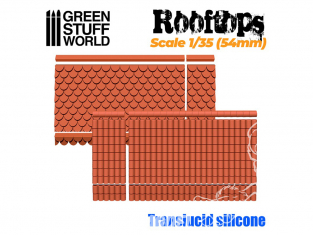 Green Stuff 506853 MOULES en Silicone - Toits 1/35 (54mm)