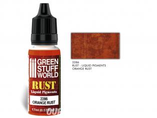 Green Stuff 2286 Pigments Liquides ORANGE RUST 17ml