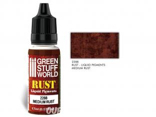 Green Stuff 2288 Pigments Liquides MEDIUM RUST 17ml