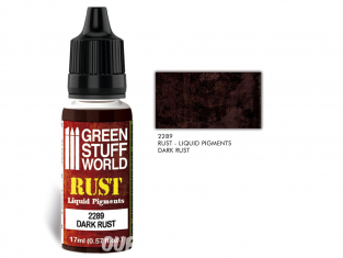 Green Stuff 2289 Pigments Liquides DARK RUST 17ml