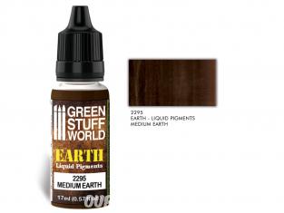 Green Stuff 2295 Pigments Liquides MEDIUM EARTH 17ml