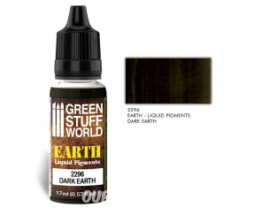 Green Stuff 2296 Pigments Liquides DARK EARTH 17ml