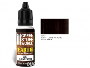 Green Stuff 2297 Pigments Liquides BURNT EARTH17ml