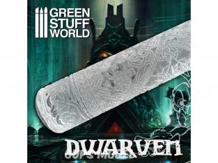 Green Stuff 507454 Rouleaux texturés DWARVEN