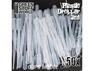 Green Stuff 2418 50x Pipettes Longues Graduées