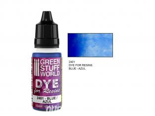 Green Stuff 2401 Colorant pour Résines BLEU 15ml