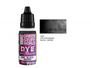 Green Stuff 2400 Colorant pour Résines NOIR 15ml