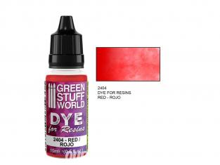 Green Stuff 2404 Colorant pour Résines ROUGE 15ml