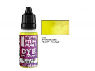 Green Stuff 2403 Colorant pour Résines JAUNE 15ml
