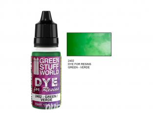 Green Stuff 2402 Colorant pour Résines VERT 15ml
