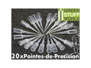 Green Stuff 9007 20x Pointes de Précision pour Colle Cyanoacrylate