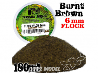 Green Stuff 10310 Herbe Statique 6mm Brun Brûlé 180ml