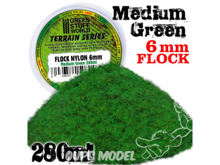 Green Stuff 10305 Herbe Statique 6mm Vert Moyen 280ml