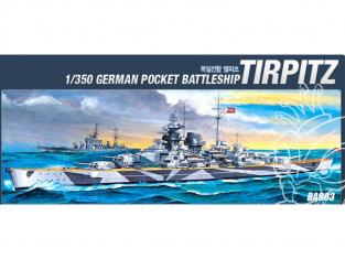 ACADEMY maquettes bateau 14111 cuirassé Tirpitz 1/350