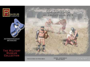 PEGASUS figurine 3202 GLADIATEURS SET 2 1/32