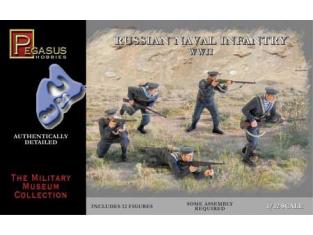 PEGASUS figurine 3203 INFANTERIE NAVALE RUSSE 1/32