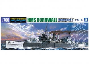 Aoshima maquette bateau 056745 HMS Cornwall (56) croiseur lourd 1/700