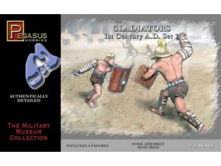 PEGASUS figurine 3201 GLADIATEURS SET 1 1/32