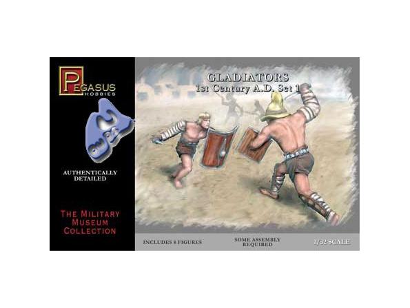 PEGASUS figurine 3201 GLADIATEURS SET 1 1/32