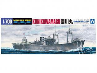 AOSHIMA maquette bateau 009758 IJN KUNIKAWA MARU transport d'hydravions 1/700