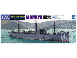 AOSHIMA maquette bateau 010372 BATEAU D'APPROVISIONNEMENT MAMIYA 1/700