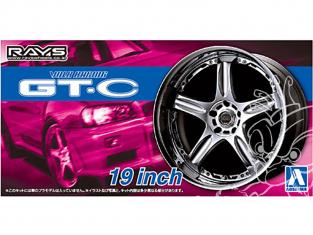Aoshima maquette voiture 54611 VOLK RACING GT-C 19 inch et pneus 1/24