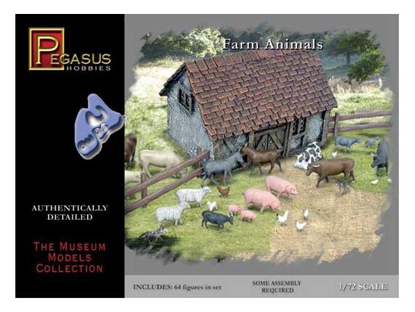 Pegasus maquette figurines 7052 ANIMAUX DE LA FERME 1/72