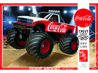 AMT maquette camion 1184 1988 Chevy Silverado Monster Truck (Coca-Cola) 1/25
