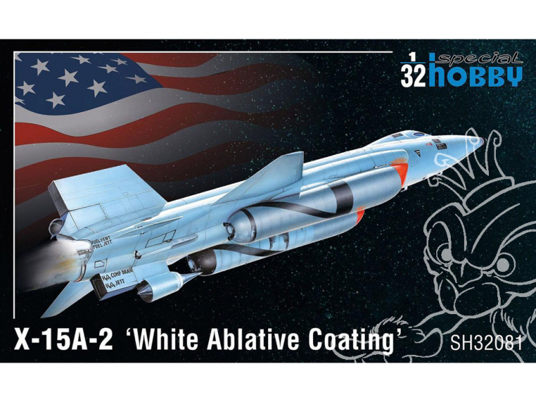 Special Hobby maquette avion 32081 X-15A-2 'White Ablative Coating' 1/32