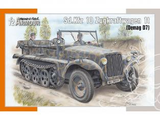 Special Hobby maquette militaire 72021 Sd.Kfz 10 Zugkraftwagen 1t (Demag D7) 1/72
