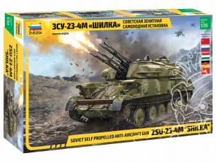 """Zvezda maquette militaire 3635 Canon antiaérien autopropulsé soviétique ZSU-23-4 """"Shilka"""" 1/35"""