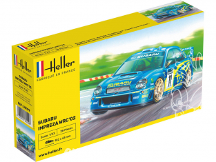 HELLER maquette voiture 80199 Subaru Impreza WRC &3902; 1/43