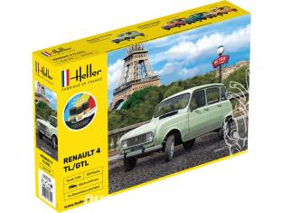 Heller maquette voiture 56759 Coffret RENAULT 4L GTL 1/24
