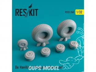 ResKit kit d'amelioration Avion RS32-0240 Ensemble de roues resine De Havilland Mosquito 1/32