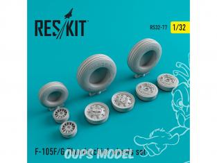 ResKit kit d'amelioration Avion RS32-0077 Ensemble de roues resine F-105 (F,G) 1/32
