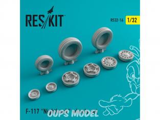 ResKit kit d'amelioration Avion RS32-0016 Ensemble de roues resine F-117 Nighthawk 1/32