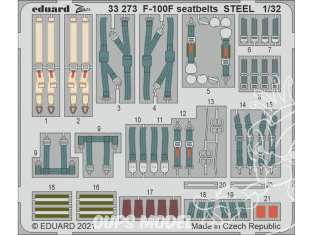 Eduard photodécoupe avion 33273 Harnais métal F-100F Trumpeter 1/32