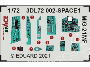 Eduard Space décalques 3D 3DL72002 MiG-21MF Eduard 1/72