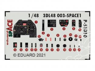 Eduard Space décalques 3D 3DL48003 P-51D-10 Eduard 1/48