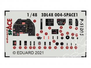 Eduard Space décalques 3D 3DL48004 P-51D-15+ Eduard 1/48