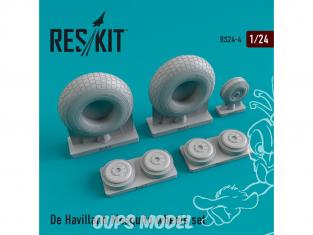 ResKit kit d'amelioration avion RS24-0004 Ensemble de roues De Havilland Mosquito 1/24